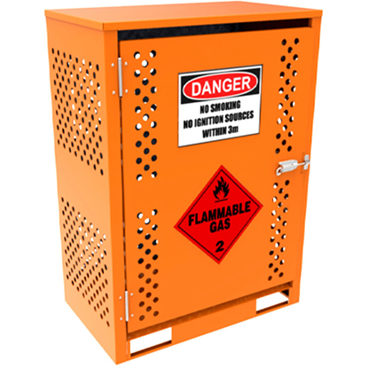 Picture of 2x15kg Forklift Gas Cylinder Storage Cabinet Class 2
